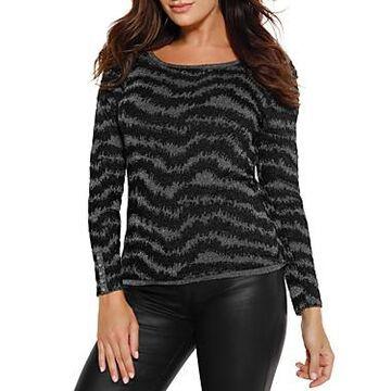 Belldini Metallic Print Sweater