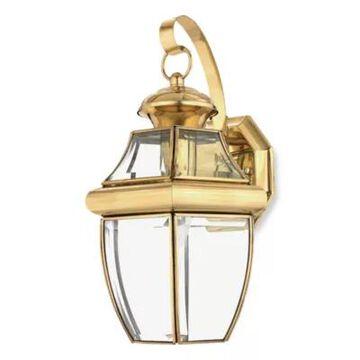 Quoizel Newbury Medium 1-Light Outdoor Wall Fixture in Polished Brass