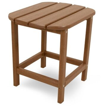 POLYWOOD South Beach Patio Side Table - Brown