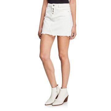 14 Raw-Edge Mini Skirt