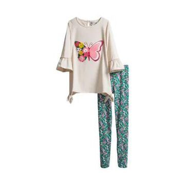 Rare Editions Girls' Girls 7-16 Butterfly Graphic Set - -