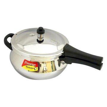Prestige Deluxe Stainless Steel Junior Handi Pressure Cooker, 4.4 l.