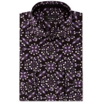 Sean John Men's Classic/Regular-Fit Floral-Print Dress Shirt