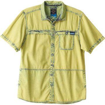KAVU Men's The Max Shirt - Large - Sunshine