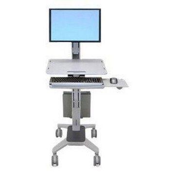 Ergotron WorkFit C-Mod Single Display Sit-Stand Workstation - cart