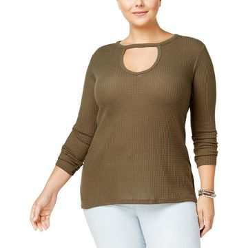 No Comment Womens Plus Knit Night Out Choker Top