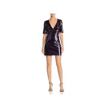 Bardot Womens Party Dress Sequined V-Neck