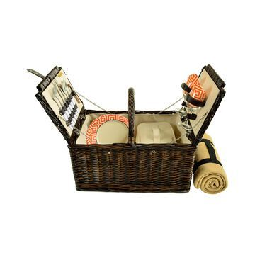 Surrey Willow Picnic Basket with Blanket - Service for 2