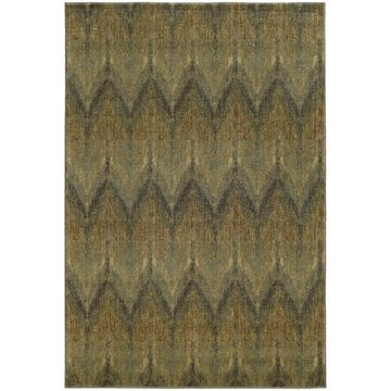 Style Haven Blue/Beige Chevron Ikat Indoor/Outdoor Area Rug (3'10 x 5'5) - 3'10