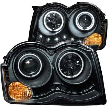 ANZO USA 111213 08-10 GRAND CHEROKEE PROJECTOR W/HALO (CCFL) BLACK CLEAR HEADLIGHTS (SET)