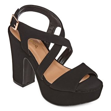 Bamboo Womens Sandbar 74s Heeled Sandals