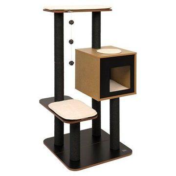 VESPER Cat Furniture, High Base, Black