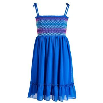 Big Girls Smocked Tie-Shoulder Dress, Created for Macy's