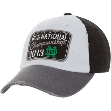 Top of the World Notre Dame Fighting Irish 2013 BCS National Championship Game Bound Adjustable Hat - White/Black