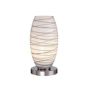 Lite Source 10.5-in Steel-painted Table Lamp with Glass Shade