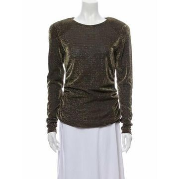 Scoop Neck Long Sleeve Top Gold