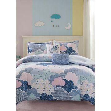 Jla Home Periwinkle Blue Cloud Duvet Cover Set - -