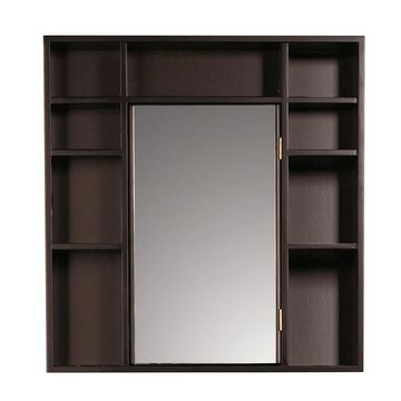 Red Mahogany Medicine Cabinet/ Double Sided Mirror (9700-RM)