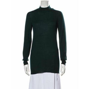 Virgin Wool Mock Neck Sweater Wool