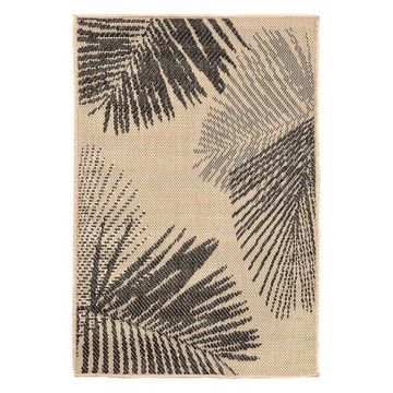 Trans Ocean Terrace Palm 1792/67 Floral Outdoor Rug, Neutral, 7'10
