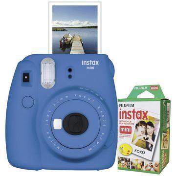 Fujifilm Instax Mini 9 Instant Film Camera with Film - Cobalt