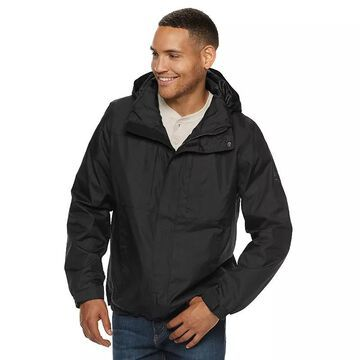 Men's ZeroXposur Grade Hooded Rain Jacket, Size: Small, Black