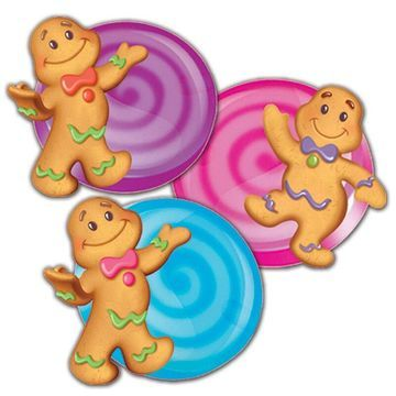 Eureka EU-841294BN Candy Land Assorted Paper Cut Outs - Pack of 6