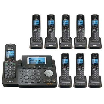 VTech DS6151 2-Line Cordless Expandable Phone with DS6101-8 Handsets