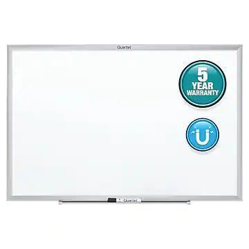 Quartet Nano-Clean Painted Steel Dry-Erase Whiteboard, Aluminum Frame, 3' x 2' (SM533)