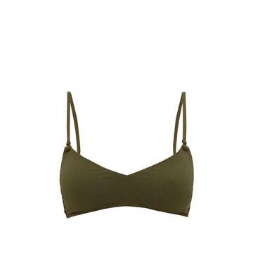 Melissa Odabash - Vienna Ribbed Padded Bikini Top - Womens - Dark Green