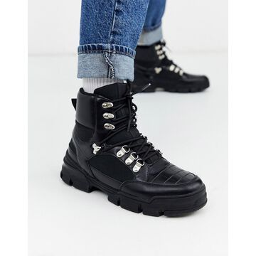 Truffle Collection hiker boot sneaker in black-Brown