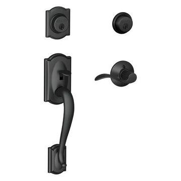 Schlage F62-CAM-ACC-RH Camelot Right Hand Double Cylinder Handleset w/