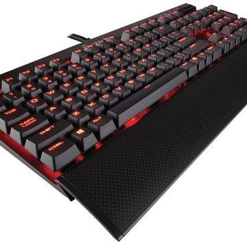 Corsair Gaming K70 LUX Mechanical Keyboard, Backlit Red LED, Cherry MX Blue