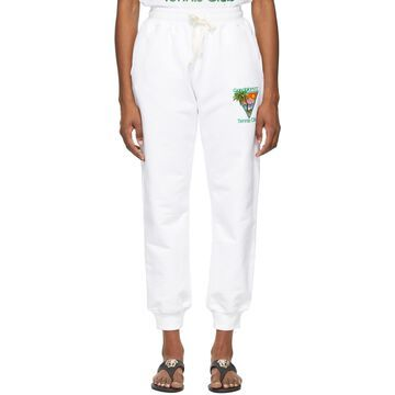 Casablanca White 'Tennis Club' Lounge Pants