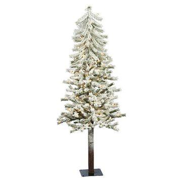 Vickerman 4-ft. Clear Pre-Lit Flocked Alpine Artificial Christmas Tree, White