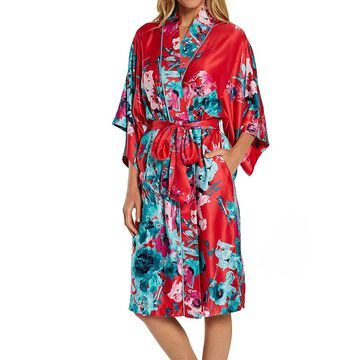 Natori M74034 Bloom Robe (Passion Coral Multi L)