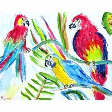 Betsy Drake DM392G Three Parrots Door Mat Large