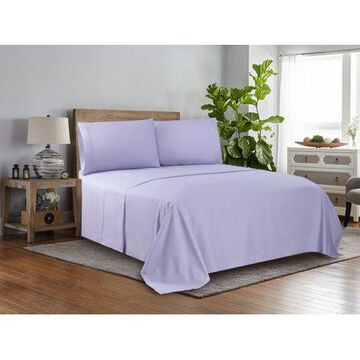Mainstays 300 Thread Count Easy Care Sheet Set, King, Purple