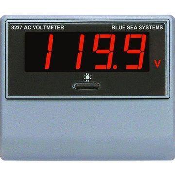 Blue Sea Systems 8237 AC Digital Voltmeter, 80 to 249V AC
