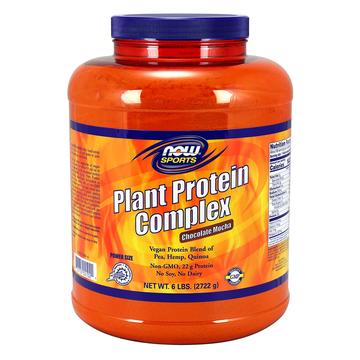 Plant Protein Complex Chocolate Mocha Now Foods 6 lbs Powder