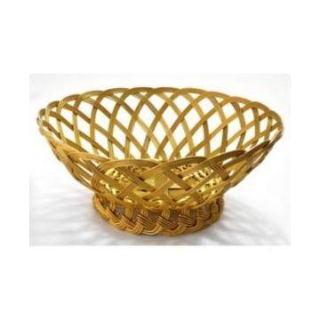"St. Croix Kindwer 10"" Gilded Woven Aluminum Basket"