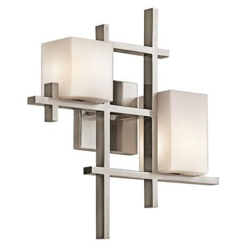 Kichler City Lights 2-Light Wall Sconce in Classic Pewter