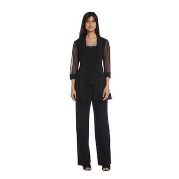 R&M Richards Beaded Pant Suit