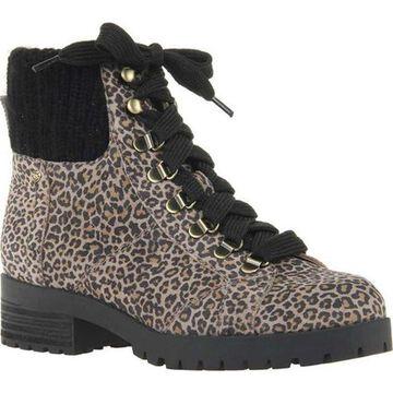 OTBT Women's Lakewood Boot Leopard Print Leather/Textile