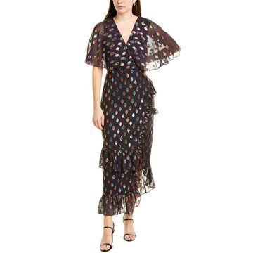 Saloni Rose Silk-Blend Maxi Dress