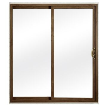 ReliaBilt Clear Glass White Vinyl Universal Reversible Double Door Sliding Patio Door (Common: 60-in x 80-in; Actual: 58.75-in x 79.5-in)