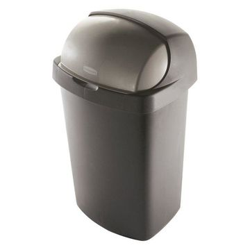 Rubbermaid 52 Qt Bronze Roll Top Waste Can
