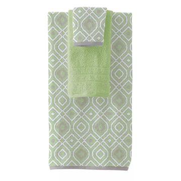 Pacific Coast Textiles Oxford 6-piece Yarn Dyed Bath Towel Set, Green, 6 Pc Set