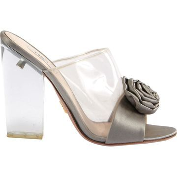 Prada Grey Cloth Heels