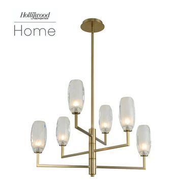 Kalco 511570WB LED Chandelier June Winter Brass - One Size
